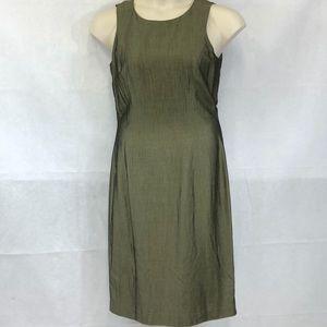Ann Taylor olive green sheath dress
